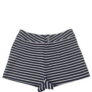 New Marc by Marc Jacobs Secret Stripe Knit Stretch High Waisted Shorts Size 6